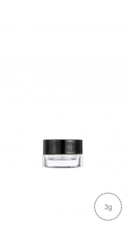 cream jar, small glass jar, eyeshadow, make up,child proof cap