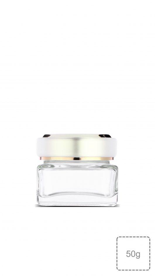glass jar, double layer cap, cream jar, skin care