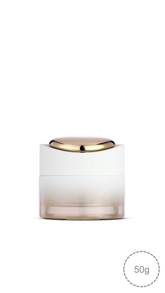 glass jar, cream jar, luxury design