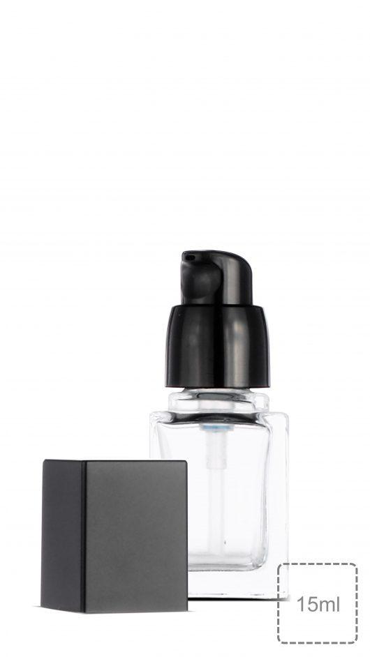 square glass bottle, foundation bottle, serum, skin care packaging, make up,líquido de fundação,liquid foundation bottle