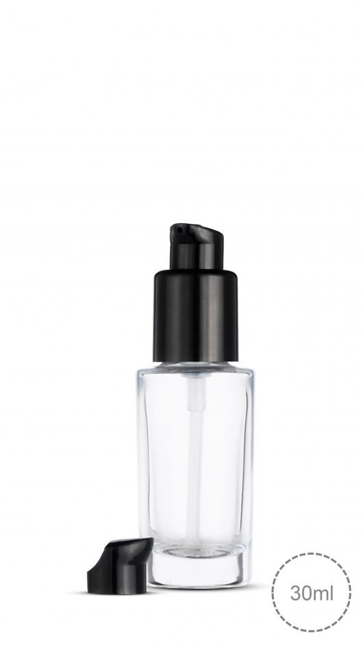 glass bottle, pump bottle, foundation glass bottle, make up, skin care, líquido de fundação,liquid foundation bottle, twist lock pump