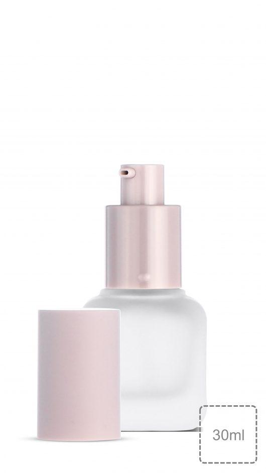 glass bottle, pump bottle, foundation glass bottle, make up, skin care, líquido de fundação,liquid foundation bottle, twist lock pump