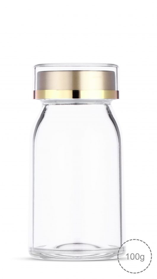 Acrylic jar, capsule, capsule jar, capsule can, health bottle, cosmetic jar, milk bottle shape