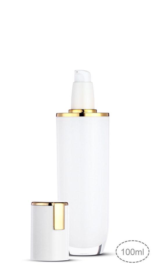 Acrylic bottle, luxury packaging, skin care packaging, metalized