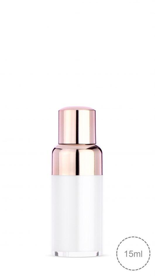 airless bottle, eye gel, skin care packaging, twist up, twist down cap, airless pump