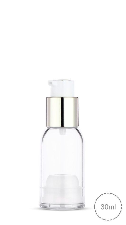 twist lock airless bottle, airless pump bottle, luxury, double layer airless, lotion, serum