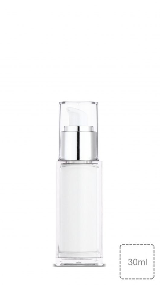 Luxury packaging, acrylic bottle, pump bottle, skin care, serum, lotion, square bottle