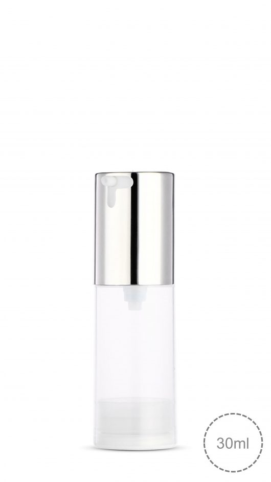 airless bottle, eye gel, skin care packaging, twist up, twist down cap, airless pump