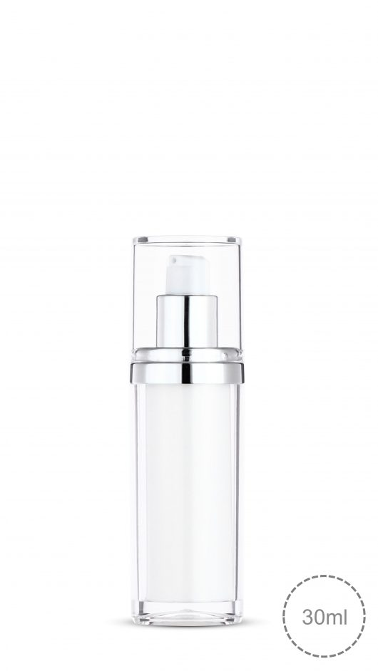 acrylic bottle, airless pump bottle, luxury, double layer airless, lotion, serum,liquid foundation bottle