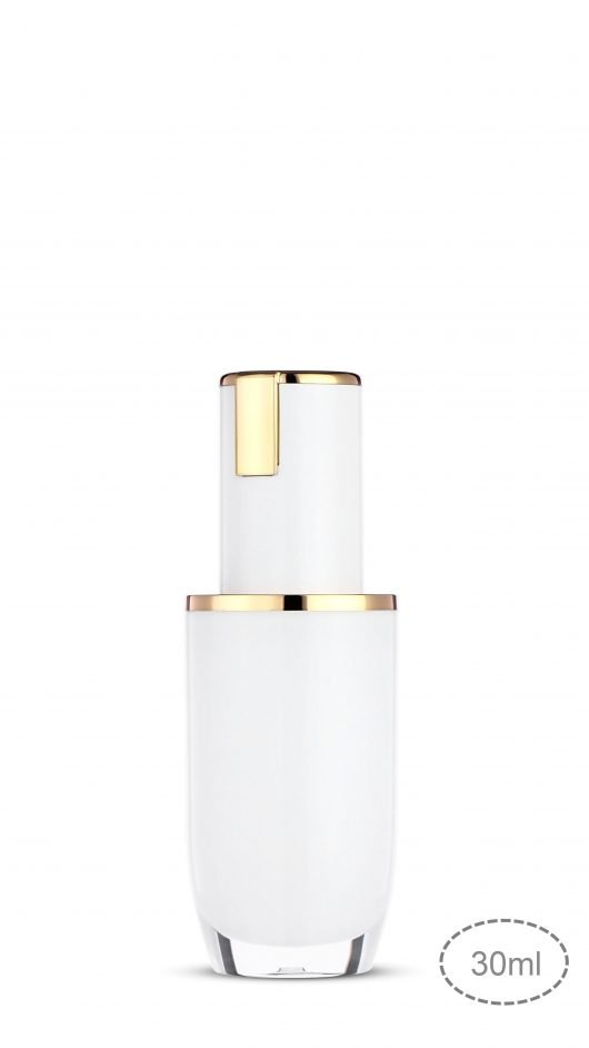 Acrylic bottle, luxury packaging, skin care packaging, metalized,liquid foundation bottle,skin care packaging
