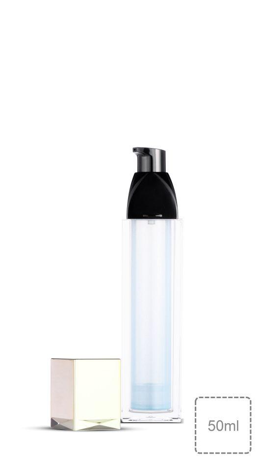Luxury packaging, acrylic bottle, pump bottle, skin care, serum, lotion, square bottle