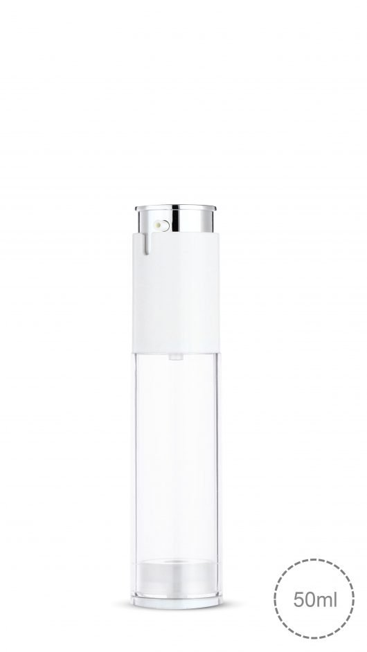 twist lock airless bottle, airless pump bottle, luxury, double layer airless, lotion, serum