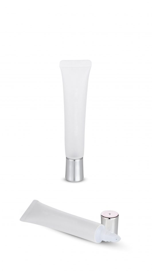 Plastic tube, cosmetic tube, eye cream applicator, tester