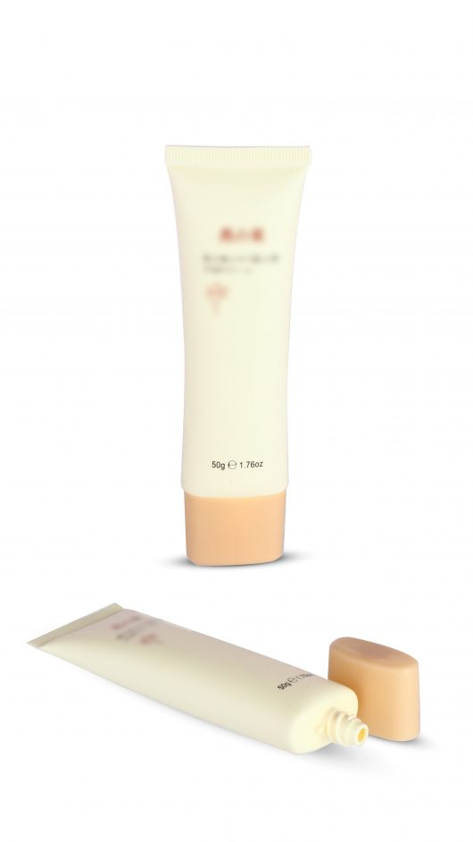 Plastic tube, cosmetic tube, eye cream applicator,