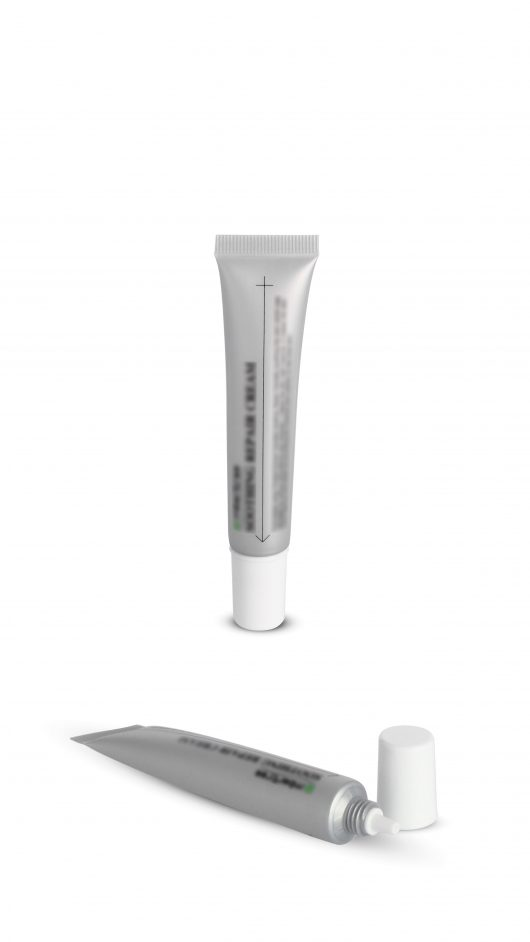 Plastic tube, cosmetic tube, eye cream applicator,