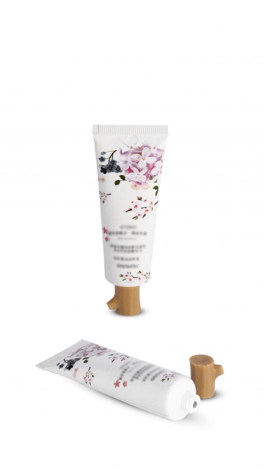 Plastic tube, cosmetic tube, eye cream applicator, hand cream