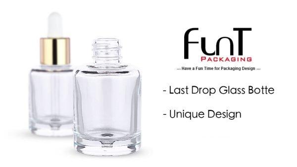 last drop glass bottle, Made in Korea, push type dropper, dropper